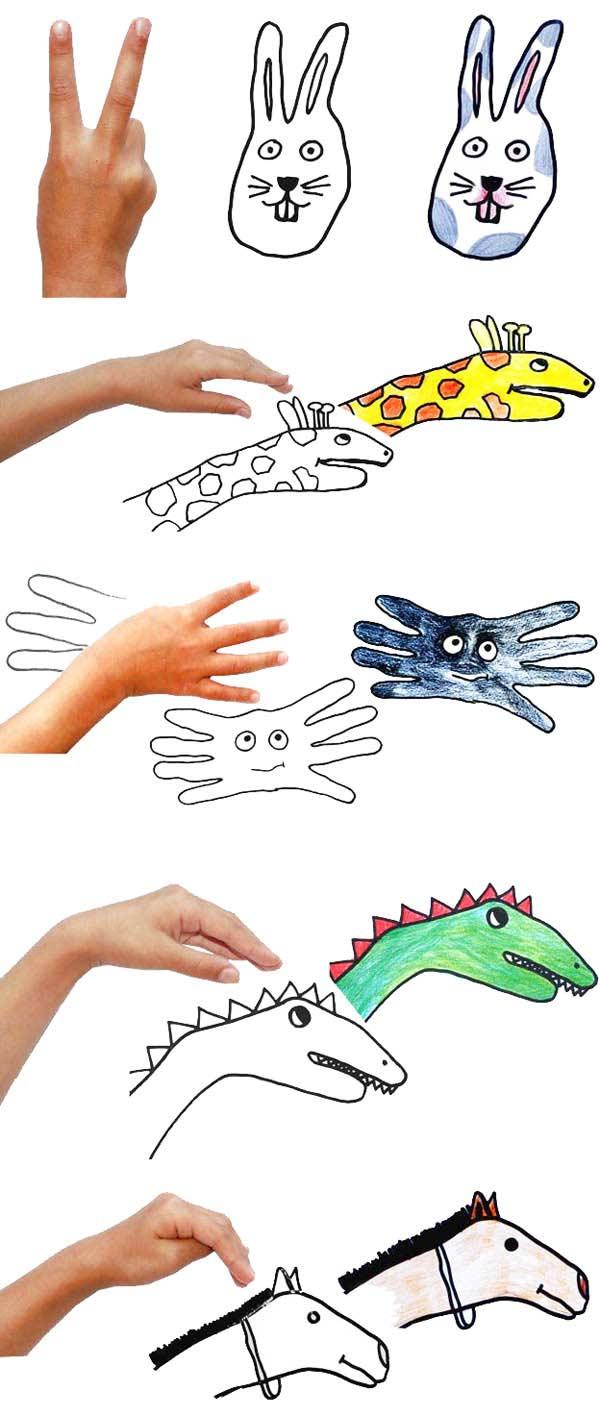 El çizimi Ile Hayvan Yapımı Okulöncesitr L Preschool