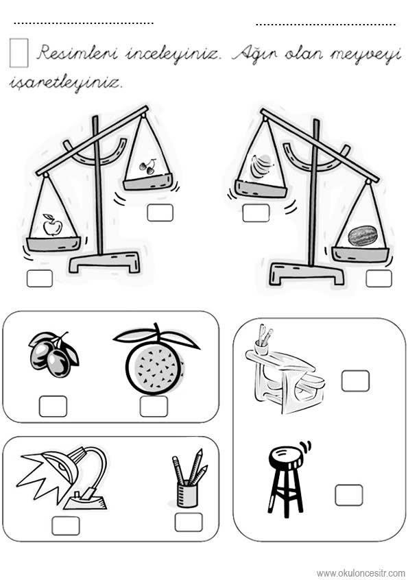 Agir Hafif Calisma Sayfasi Okuloncesitr Preschool