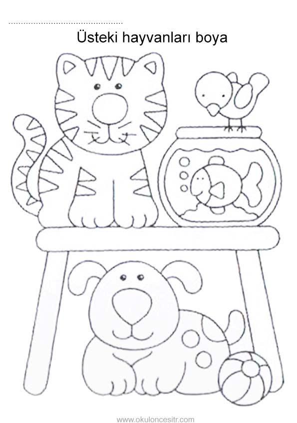 Altinda Ustunde Calisma Sayfasi Okuloncesitr Preschool