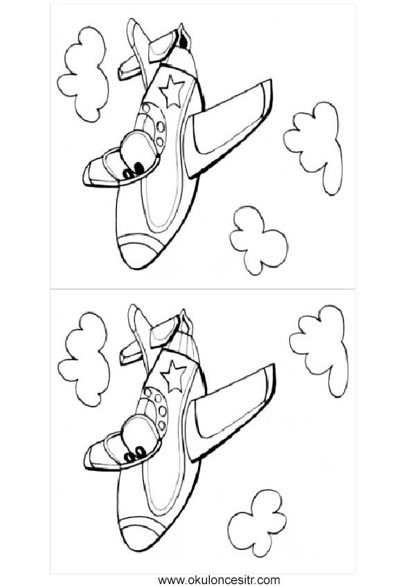 Uçak Aradaki Farkı Bul Sayfası