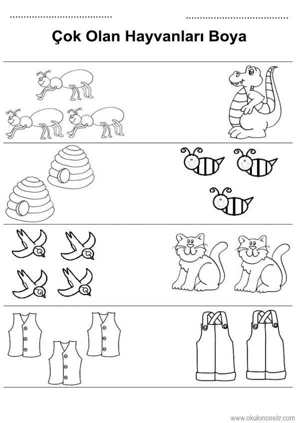 Az Cok Calisma Sayfasi Okuloncesitr Preschool