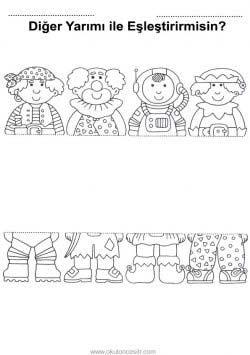 Butun Tam Yarim Calisma Sayfasi Okuloncesitr Preschool