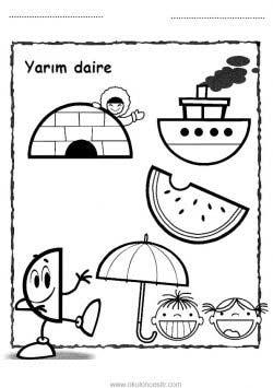 Daire çalışma Sayfası Okulöncesitr L Preschool