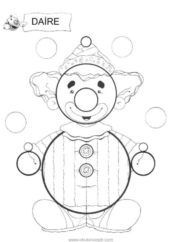 Daire Kavrami Calisma Sayfasi Okuloncesitr Preschool
