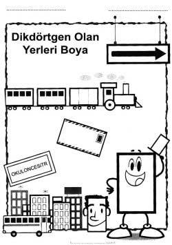 Dikdortgen Kavrami Calisma Sayfasi Okuloncesitr Preschool