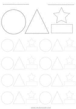 Sekil Kavrami Calisma Sayfasi Okuloncesitr Preschool