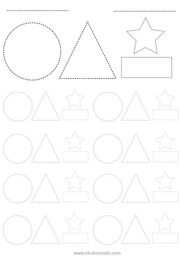 Şekil Kavramı Çalışma Sayfas