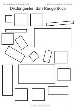 Dikdörtgen çalışma Sayfası Okulöncesitr L Preschool
