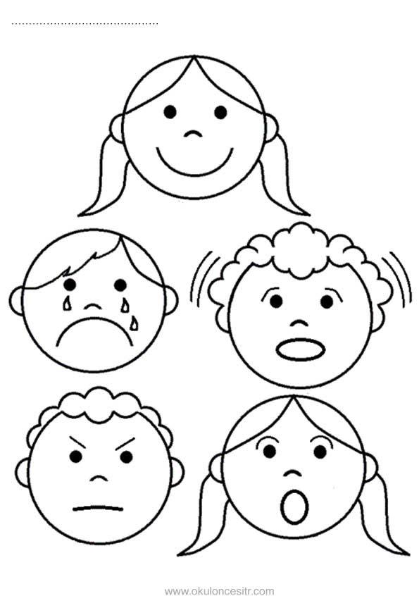 Yüz Ifadeleri Sayfası Okulöncesitr L Preschool