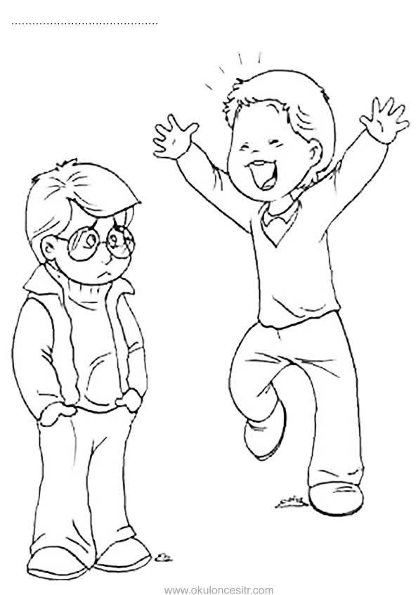 Yuz Ifadeleri Sayfasi Okuloncesitr Preschool
