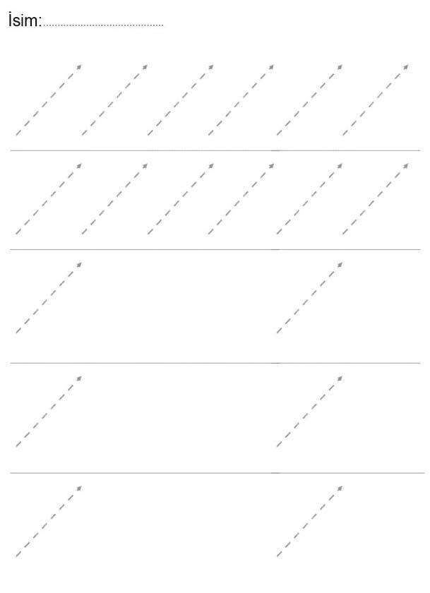 Düz Çizgi Çalışma Sayfası