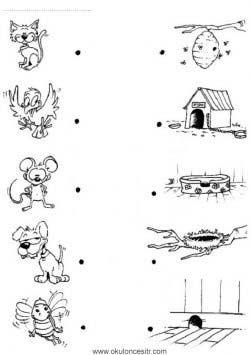 Eşleştirme çalışma Sayfaları Okulöncesitr L Preschool