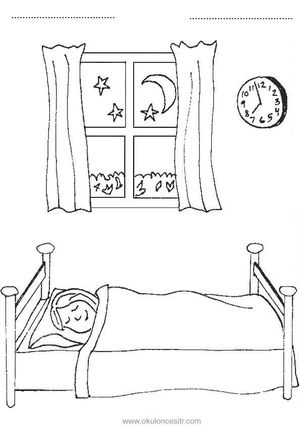 Gece Gunduz Calisma Sayfasi Okuloncesitr Preschool