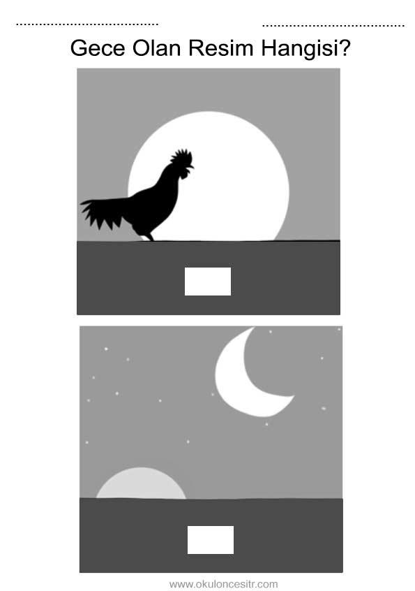 Gece Gündüz Çalışma Sayfası
