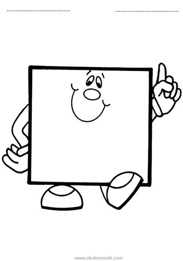 Kare Kavramı çalışma Sayfası Okulöncesitr L Preschool