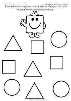 Sekiller Calisma Sayfasi Okuloncesitr Preschool