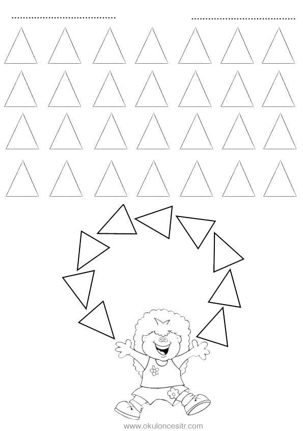 üçgen Kavramı çalışma Sayfası Okulöncesitr L Preschool