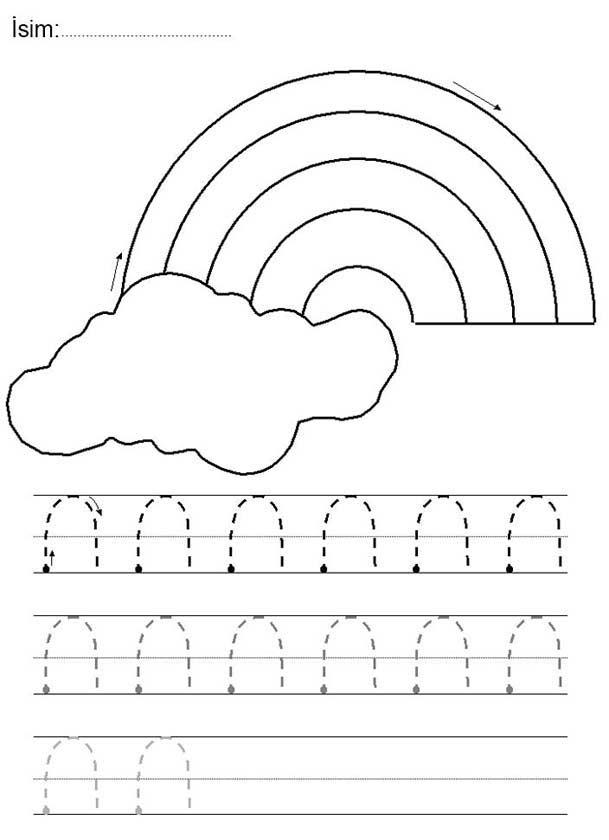 Yamuk Çizgi Çalışma Sayfası