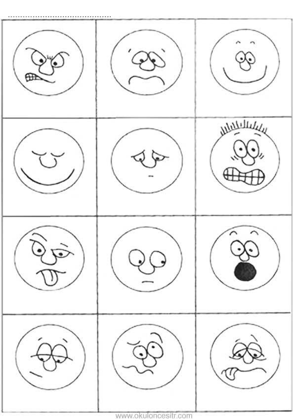 Yuz Ifadeleri Kalibi Okuloncesitr Preschool