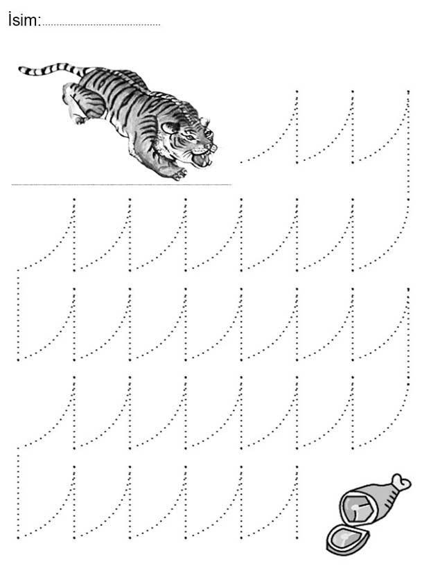 Zigzag Çizgi Çalışma Sayfası
