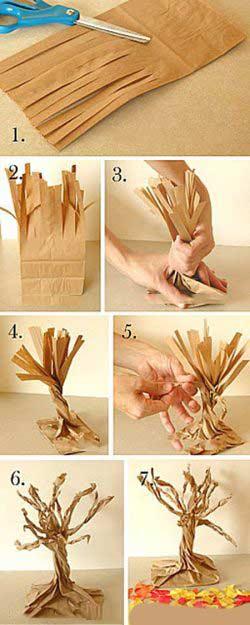 Kağıttan Gerçekci Ağaç Yapımı