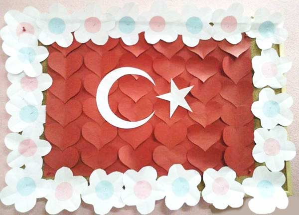 Türk Bayrağı Yapımı