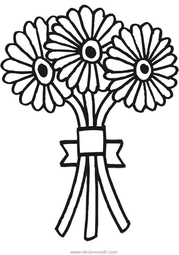 Çiçek Buketi Kalıbı