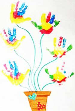 El Baskısı Çiçek