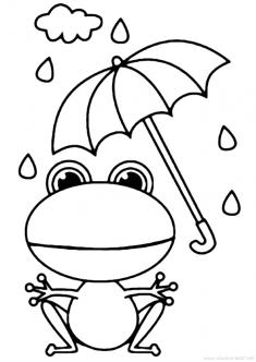 Kurbağa Boyama Sayfası