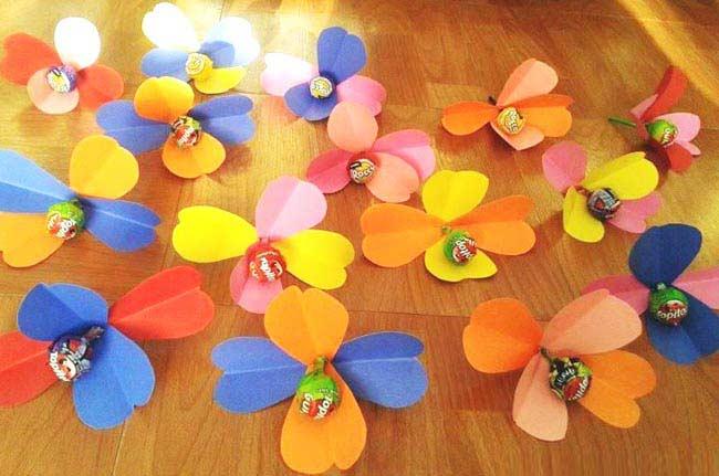 Lolipoptan Çiçek Yapımı