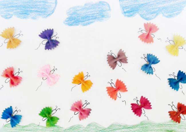 Makarnadan Kelebek Yapimi Okuloncesitr Preschool