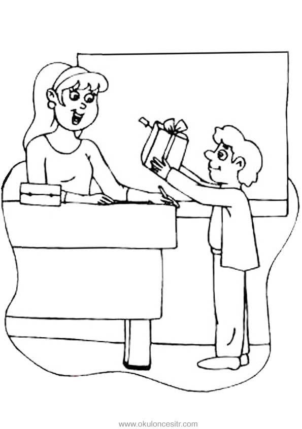 öğretmenler Günü Kalıbı Okulöncesitr L Preschool