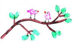 Parmak Baskı Kuş