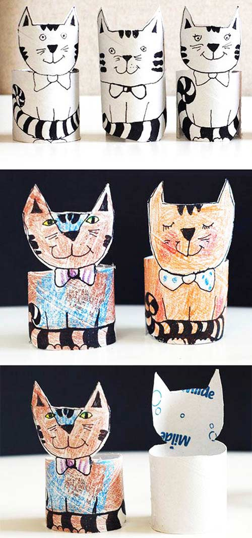 Rulodan Basit Kedi Yapımı