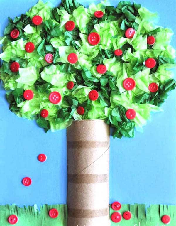 Düğmeden Elma Ağacı Yapımı