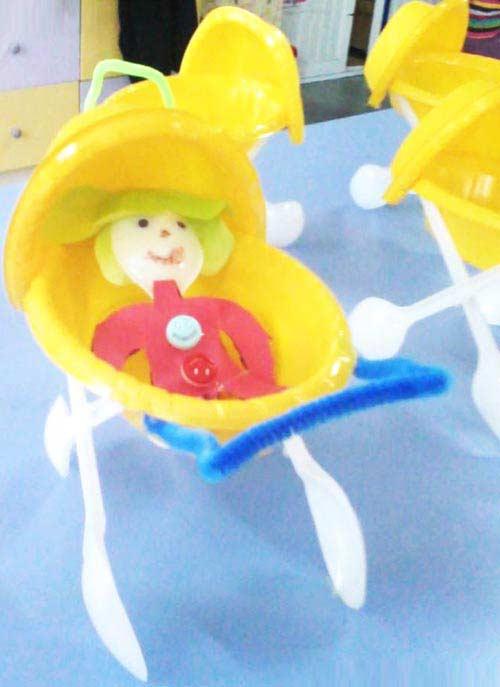 Tabak Kaşık Bebek Arabası Yapımı