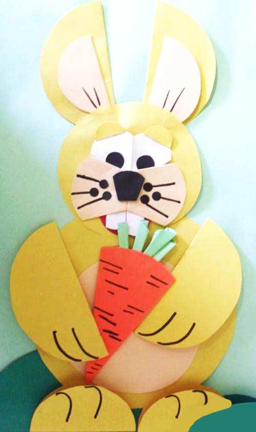 Kağıttan Üzgün Tavşan Yapımı