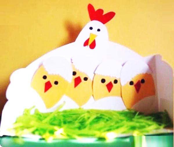 Kartondan Tavuk ve Civciv Yapımı