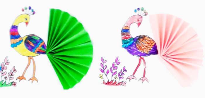 Katlama Ile Tavus Kuşu Yapımı Okulöncesitr L Preschool
