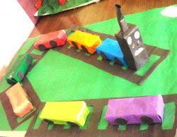 Kartondan Tren yapımı