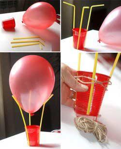 Uçan balon yapımı