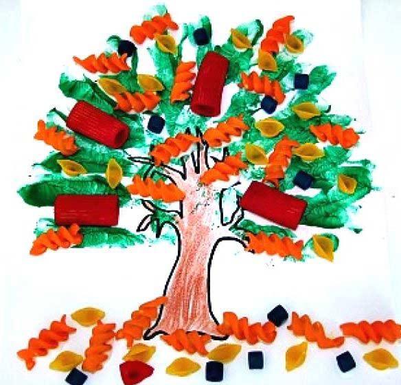 Makarnadan Ağaç Yapımı