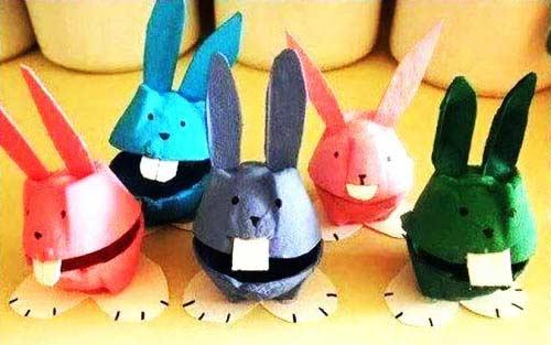 Yumurta Kolisinden Tavşan Yapımı