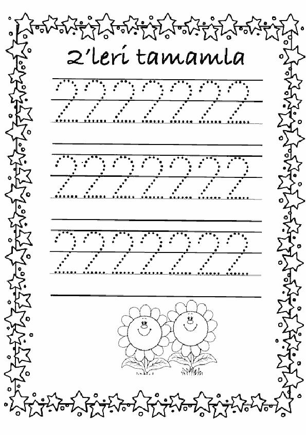 2 Rakamı Çalışma Sayfası