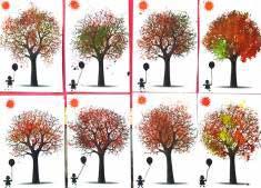Sonbahar Ağaç Kalıbı