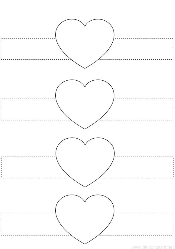 Kalp Bileklik Kalibi Okuloncesitr Preschool