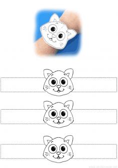 Kedi Bileklik Kalıbı