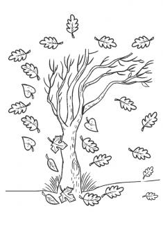 Ağaç Boyama Sayfası
