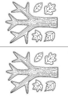 Ağaç Boyama Sayfası ve Kalıbı
