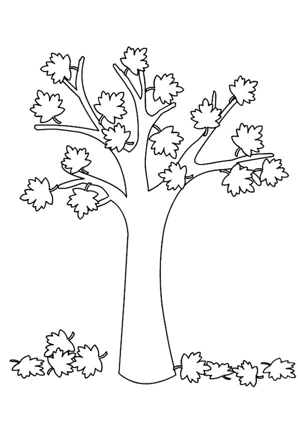 Sonbahar Mevsimi Resmi Boyama Coloring Free To Print